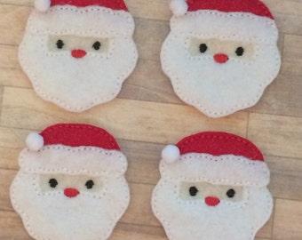 4  felt santa claus multiple sizes available