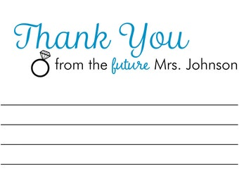 Bridal Shower Thank You Post Card-Future Mrs