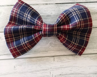 Plaid Bow Tie or Hair Bow