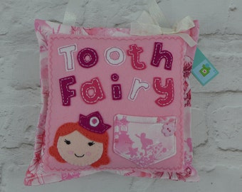 Tooth Fairy Pillow - tooth fairy pouch - tooth fairy tradition - gift for child - childs room decor - tooth fairy cushion - presentsfelt