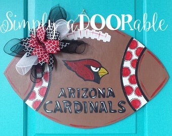 Arizona Cardinals Football Wood Door Hanger!  This Cardinals Football is Simply aDOORable and perfect for football season! Door Decoration