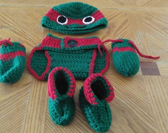 Ninja turtle baby set..  You pick the color