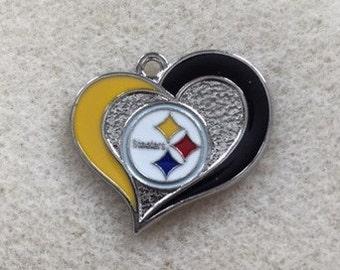 Pittsburgh Steelers Heart Charm