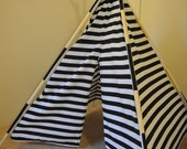 Black and White Stripes New Styles Polyester Teepee