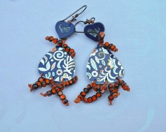Boho Tin earrings - DayLilyStudio
