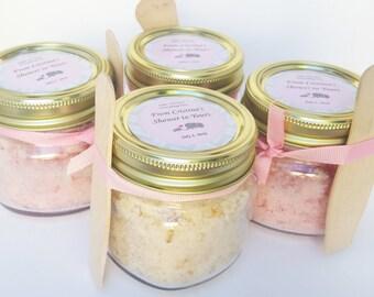 60 8 oz Sugar Scrub Favors- Baby Shower Favors- Bridal Shower Favors- Party Favors- Shower Favors- Natural Sugar Scrubs- Thank You Gifts