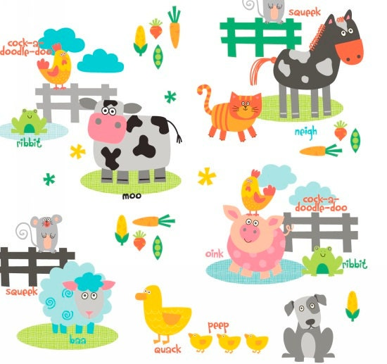 Funny Farm Fabric By Studio E 1 4 Metre Or More Online