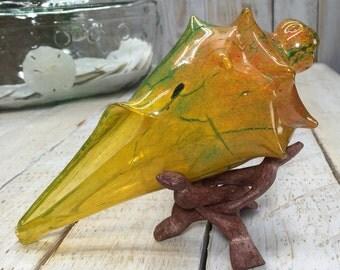 Large Conch shell, Glass Seashell, beach wedding gift, Beach Coastal Decor, Coastal Living Decor, Coastal Decorations, glass seashells