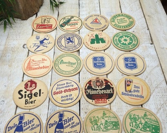 20 german coasters, double sided coasters, paper coasters, drink coasters, german beer, made in germany, german coaster, bar coasters,