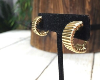 Christian Dior Clip Earrings - Chr dior earrings, Gold Clip Earrings, Gold Hoops, Clip On Hoop, Clip Hoop Earrings, Gold Hoop, Dior Hoops