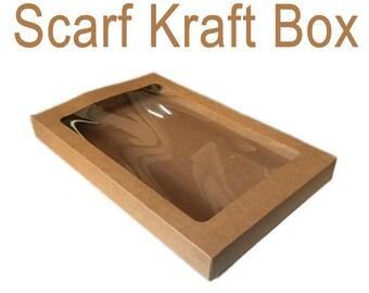 10Pcs Kraft paper packaging box /craft gift package boxes /Silk scarf box/belt scarf packing box TZ291