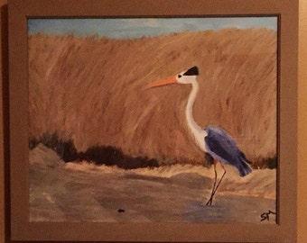 """Original framed painting """"Morning Walk"""""""