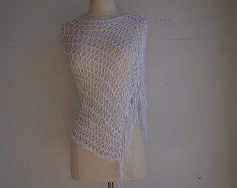 White Shawl/ Wrap/ Poncho