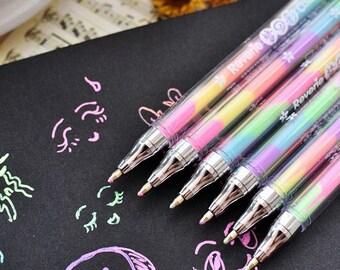 2 x stylus gel pen 6 colors in a pen! (A 997)