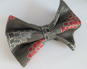 Reclaimed 100% silk hair bow for ages 1-Adult.