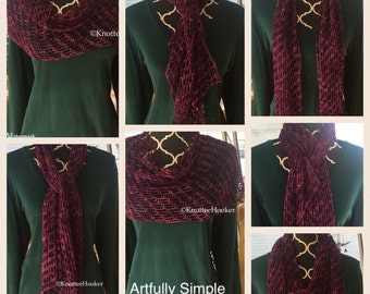 Purple /Orange Angled Scarf