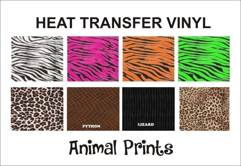 Animal Print Zebra Choose Print Heat Transfer Vinyl Large