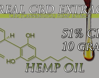 New 10 Gram Tube of CBD Oil Extracted From Organic Hemp 51% CBD Oil 40 Percent Off While Supplies Las