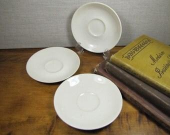 Syracuse China Small Saucers - Set of Three (3)