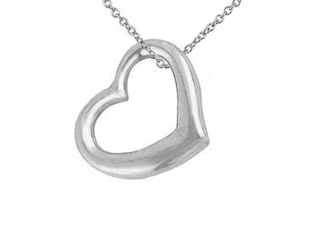 Sterling Silver Pretti Heart Necklace (P911)