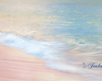 Brush Strokes ~ Bermuda, Long Bay Beach, Pink Sand, Artwork, Beach Photography, Wall Art, Coastal, Home Decor, Ocean, Seascape, Tropical