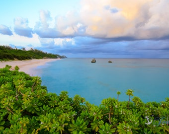 Limited Edition ~ Long Bay Overlook ~ Bermuda, Fine Art Canvas, Artwork, Tropical, Seascape, Abstract, Coastal, Fine Art Photography, Joules