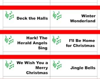 Printable Christmas Game Cards for Taboo Group Game Family