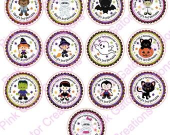 Halloween favor stickers,halloween stickers,halloween party,halloween birthday;Halloween decor