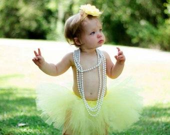 Light Yellow Tutu, Preemie, Newborn to Size 14/16, Lemon yellow tutu, Yellow Tutu, Baby Tutu, Birthday, Pale Yellow, cake smash, photo prop