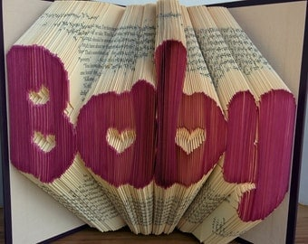 Baby - Folded Book Art - Fully Customizable, baby shower, child, mother