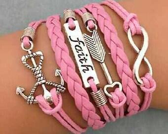 Faith charm bracelet