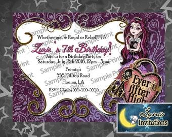 Raven Queen Birthday INvitation