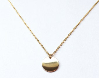 Celena Necklace // Gold Fill // Gold Necklace, Disc Necklace