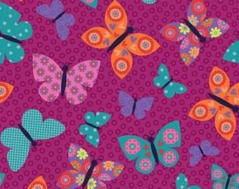 Purple Butterflies Print by Studio E