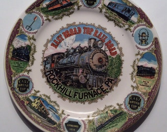 East Broad Top Rail Road Rock Hill Furnace, PA Vintage Decorative Commemorative Collectible Plate Circa 1970's