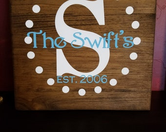 Painted Custom Name Sign