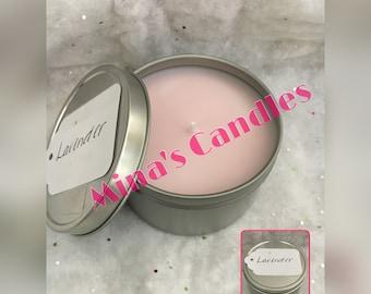 8oz Natural Soy Wax Candle Tin