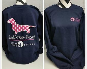 Girl's Best Friend Sweatshirt, Dog Shirt, Dog Lover, Dog Gift, Dog Mom, Dog T-shirt, Dog Lover Gift, Dog Shirt, Fur Mama, Dog Tee