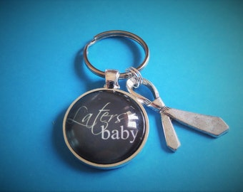 Fifty (50) Shades of Grey - Christian Grey inspired Laters glass dome cabochon Keyring - fan gift