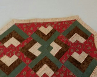 Quilted Tan Placemat Set of 4