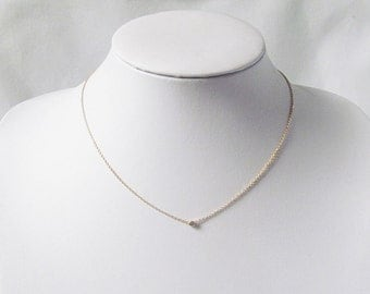 gold minimalist necklace layering necklace delicate jewelry
