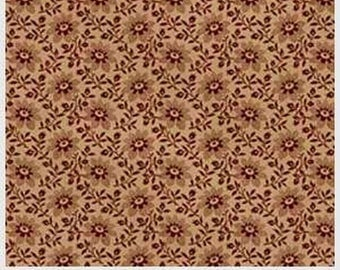 French Country Tan Floral Repeat from Washington St. Studio by the yard