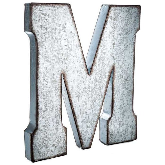 galvanized metal letters large 20 inch letter vintage With giant galvanized letters
