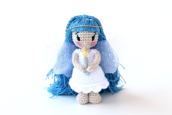 Amigurumi Angel Doll : Christmas Angel Amigurumi Angel Girl Tiny Angel Doll