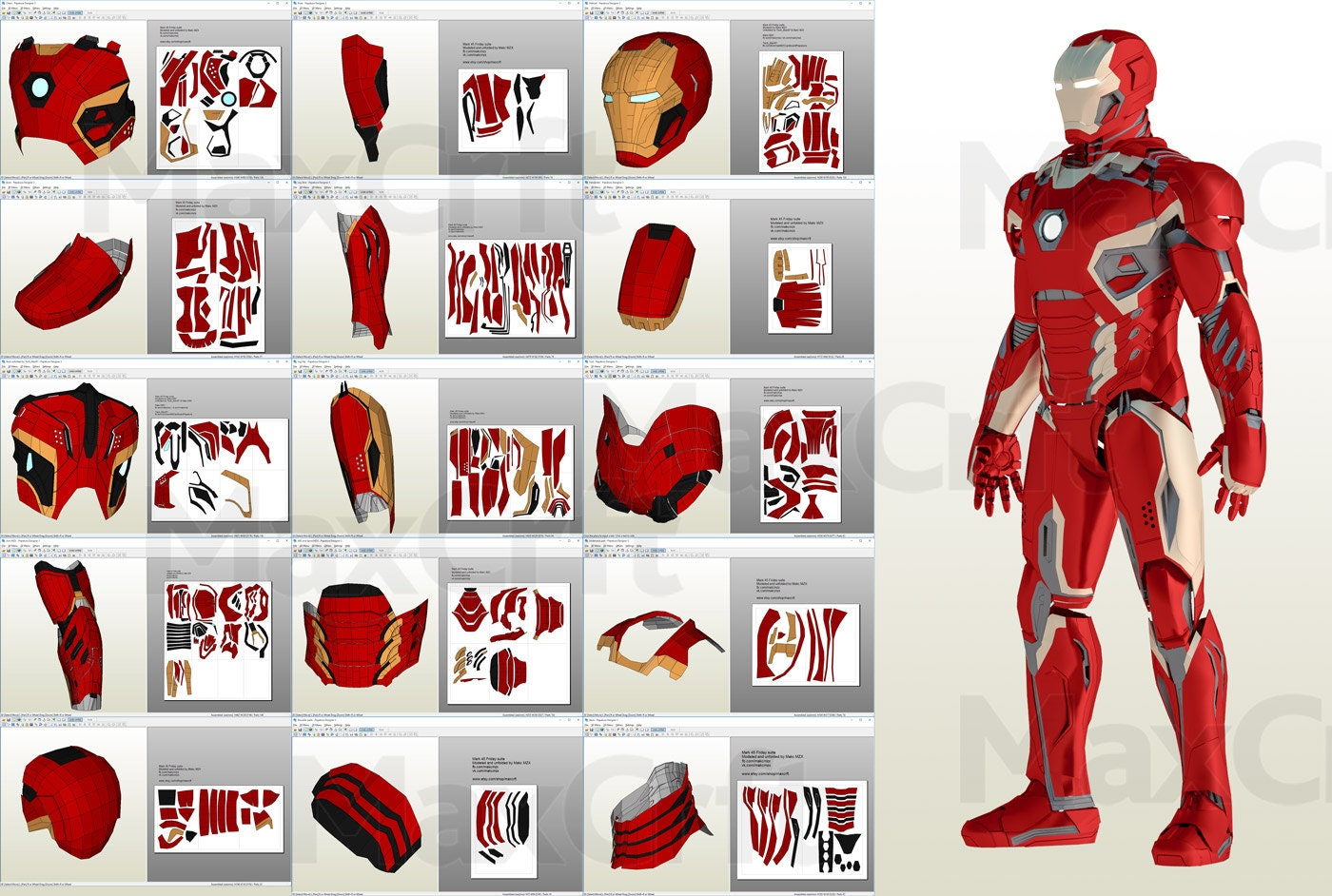 Czeshop images iron man mark 6 pepakura source pronofoot35fo Image collections