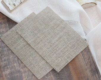 25 5x7 inch DIY Burlap Cardstock | Paper