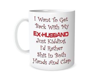divorce mug just kidding divorce party gift for divorcee gift for ...