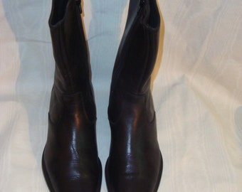 Final Clearance Black Leather Kenneth Cole Ankle Boots 36.5-6.5M