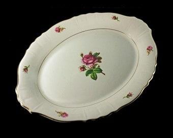 Syracuse China Platter, Federal Shape, Victoria
