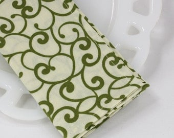 Fabric lunch napkins, cotton napkins, ivory cloth napkins, table napkins, table linens, table accessories, lunchbox supplies,12x12 set of 4